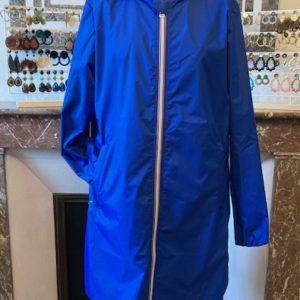 blouson pluie rainette bleu electrique