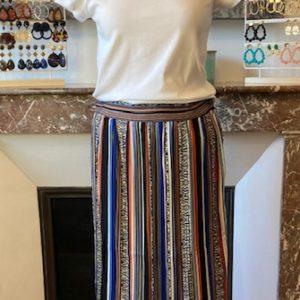 jupe plissée mutlicolore