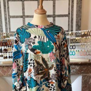 Tunique robe LILY Colorée fond blanc