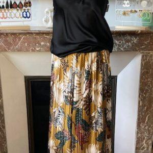 jupe plissée safran