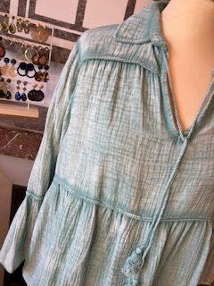 blouse vert gaze
