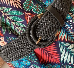 ceinture noir tressee