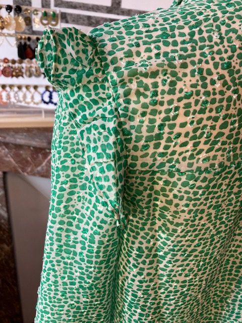 chemise vert point