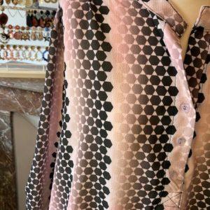 tunique imprimé fond rose