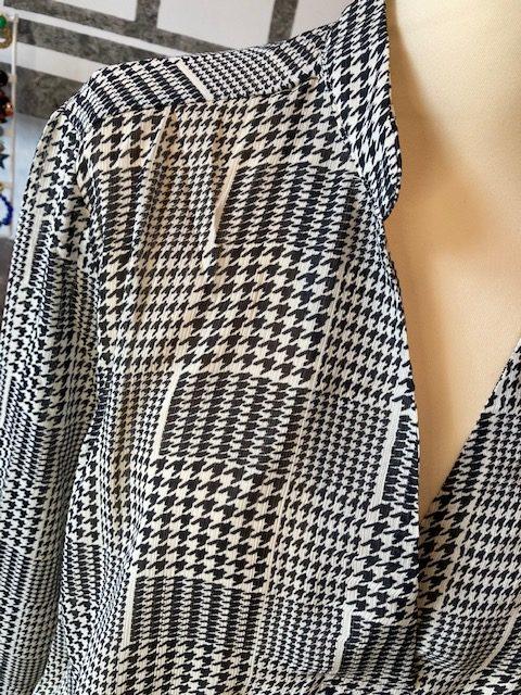 blouse prince de galles noir