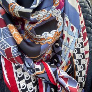 foulard couture marine