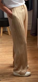 pantalon large viscose
